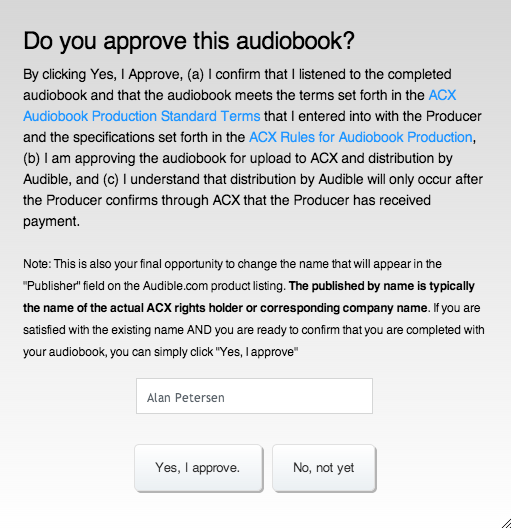 ACX Audiobook Production