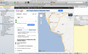 Google map added to my Places folder in Scrivener